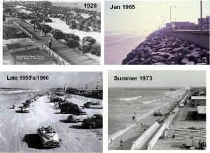 Construction of the jetties at Mayport contributed to a lack of sediment supply for the downdrift (south) beach leading to a gradual lowering and contracting recreational beach. The problem was readily apparent by the early 1960's and continued until the initial nourishment