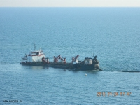 January 24, 2013 - Dredge Bayport off Romar Vista Place